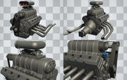 Car Engine (Hi-Poly) 3d model