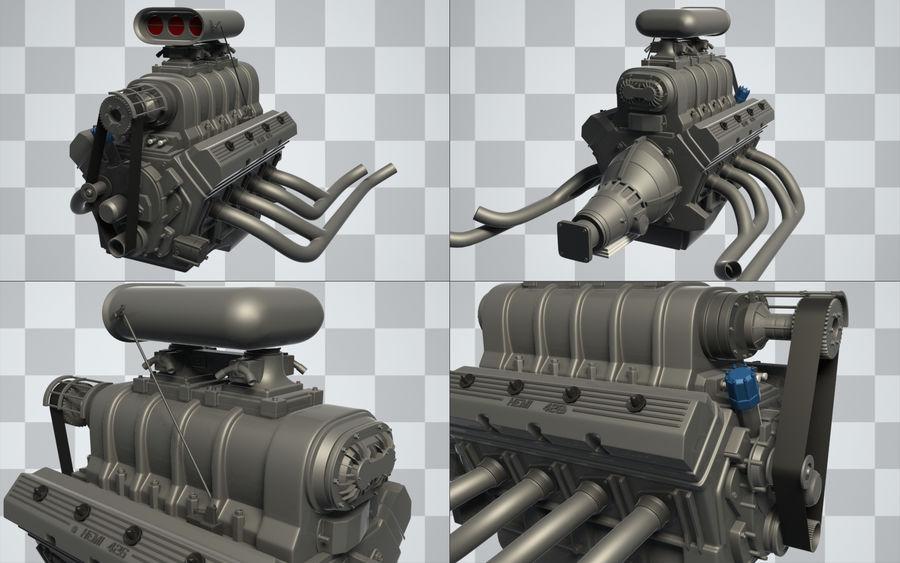 Motor de coche (Hi-Poly) royalty-free modelo 3d - Preview no. 1