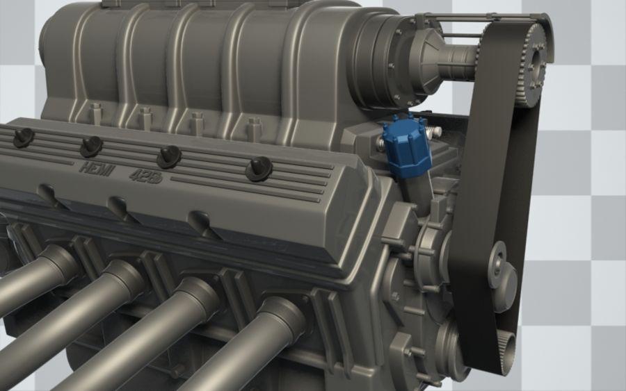 Motor de coche (Hi-Poly) royalty-free modelo 3d - Preview no. 2