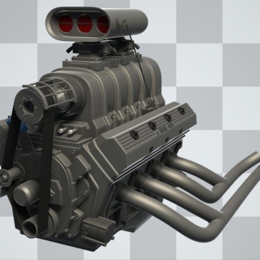 Motor de coche (Hi-Poly) royalty-free modelo 3d - Preview no. 4