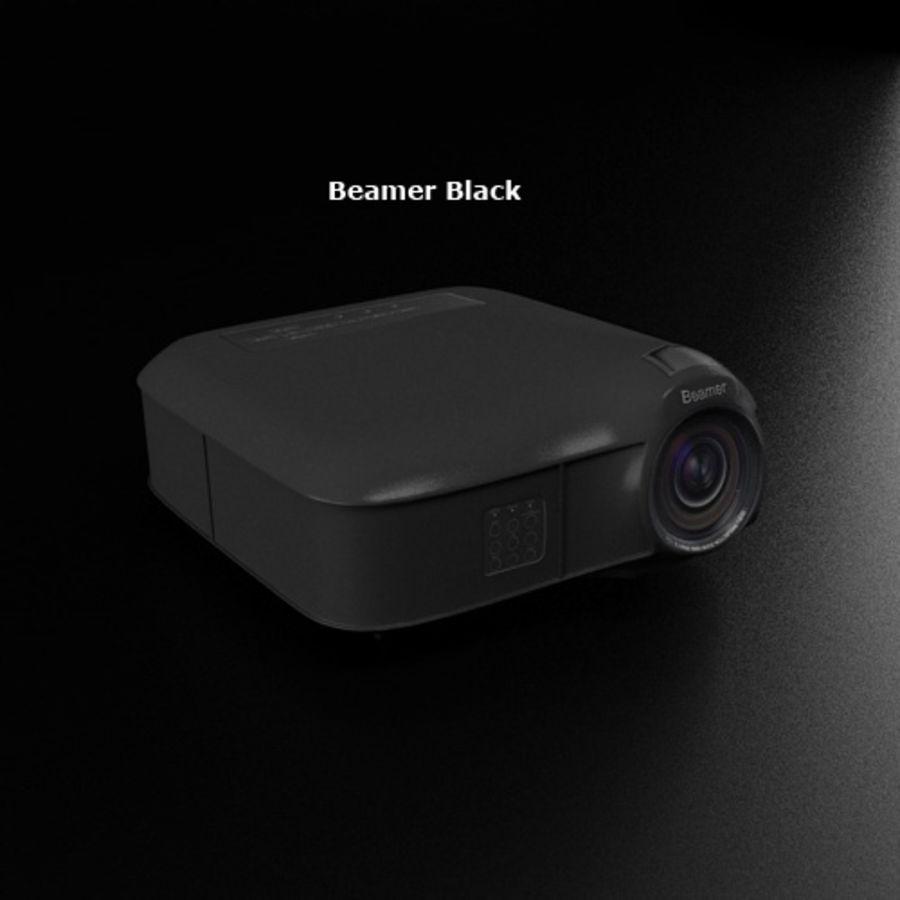 Beamer B & W royalty-free 3d model - Preview no. 5