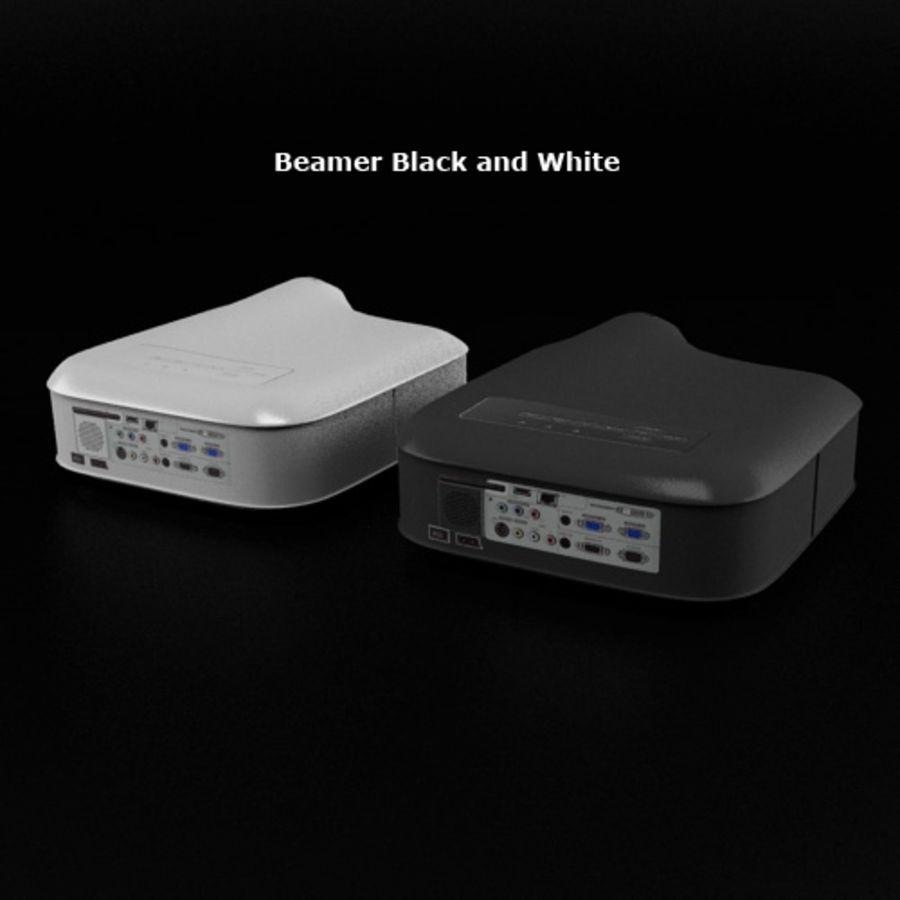 Beamer B & W royalty-free 3d model - Preview no. 2