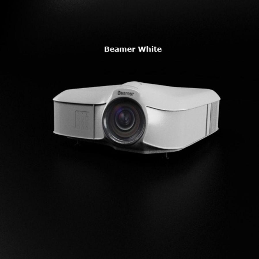 Beamer B & W royalty-free 3d model - Preview no. 4