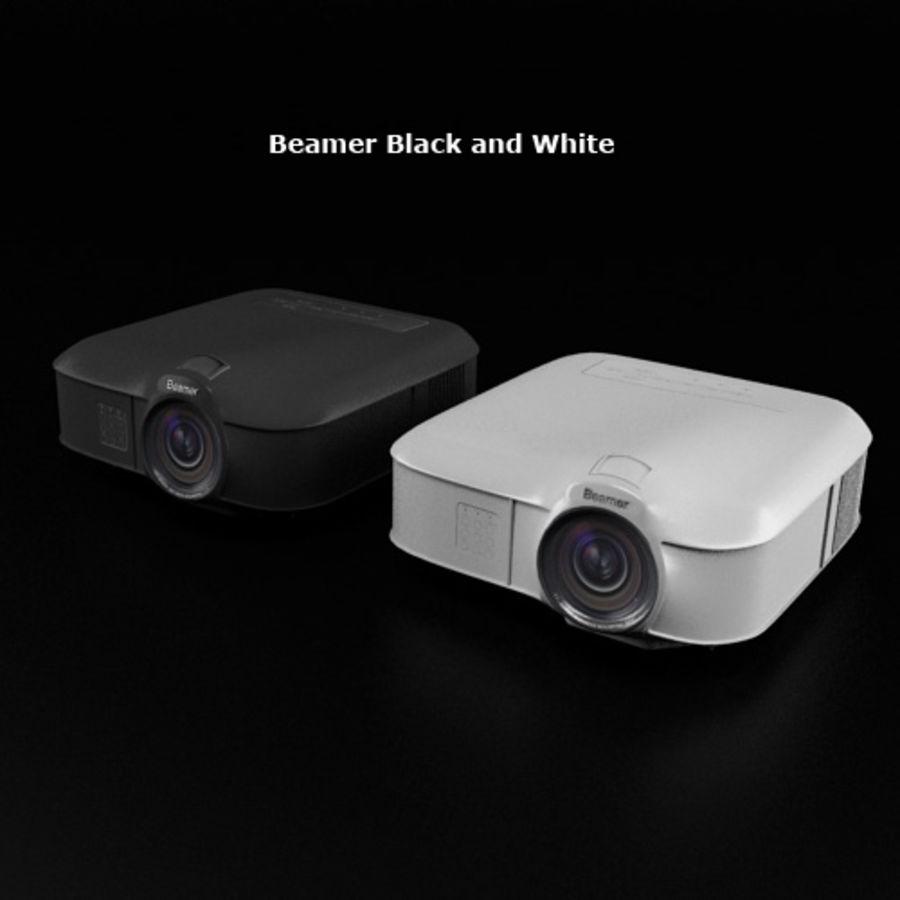 Beamer B & W royalty-free 3d model - Preview no. 1