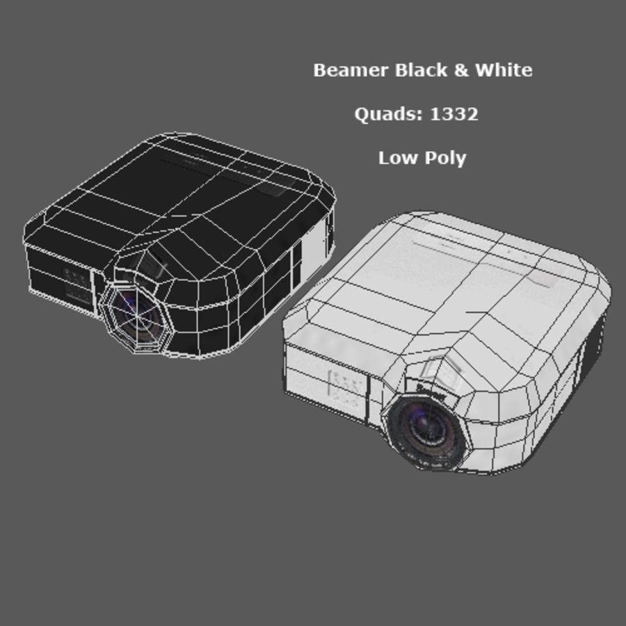Beamer B & W royalty-free 3d model - Preview no. 6