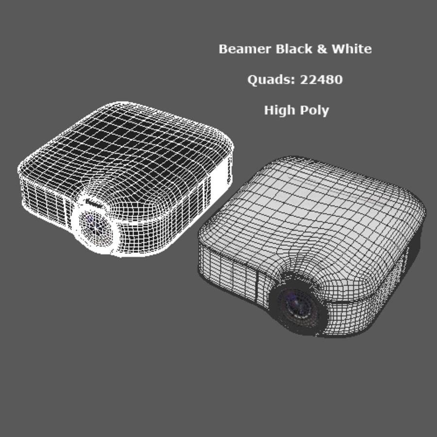 Beamer B & W royalty-free 3d model - Preview no. 8