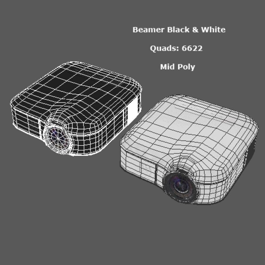 Beamer B & W royalty-free 3d model - Preview no. 7
