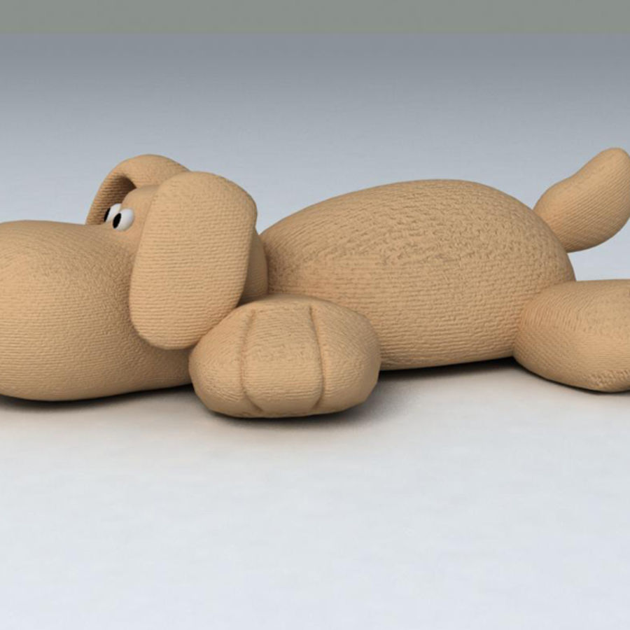 Toy dog royalty-free 3d model - Preview no. 3