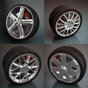 Wheels Collection - Rims and Tires 3d model