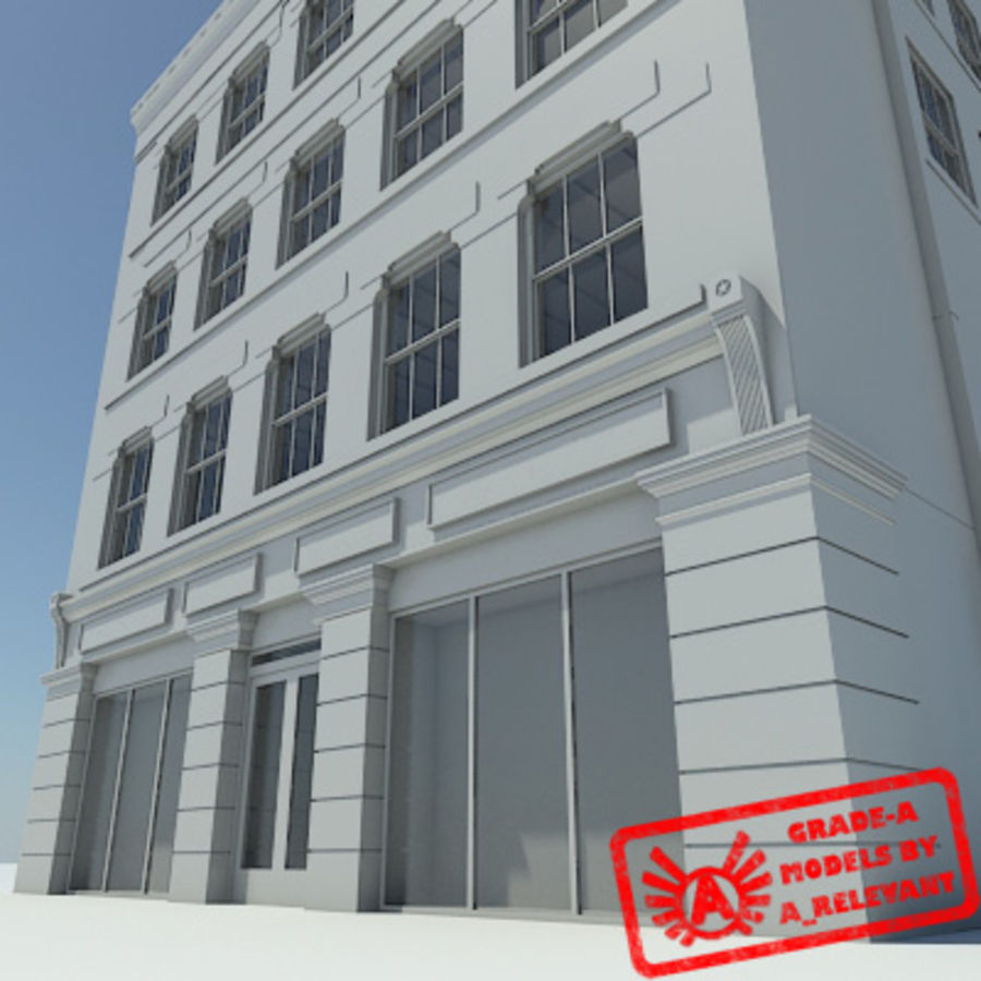 1号楼NoMat  - 高清市中心大楼 -  3ds max 2010  - 无材料 royalty-free 3d model - Preview no. 1