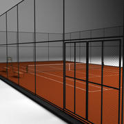 Tennis court clay 3d model