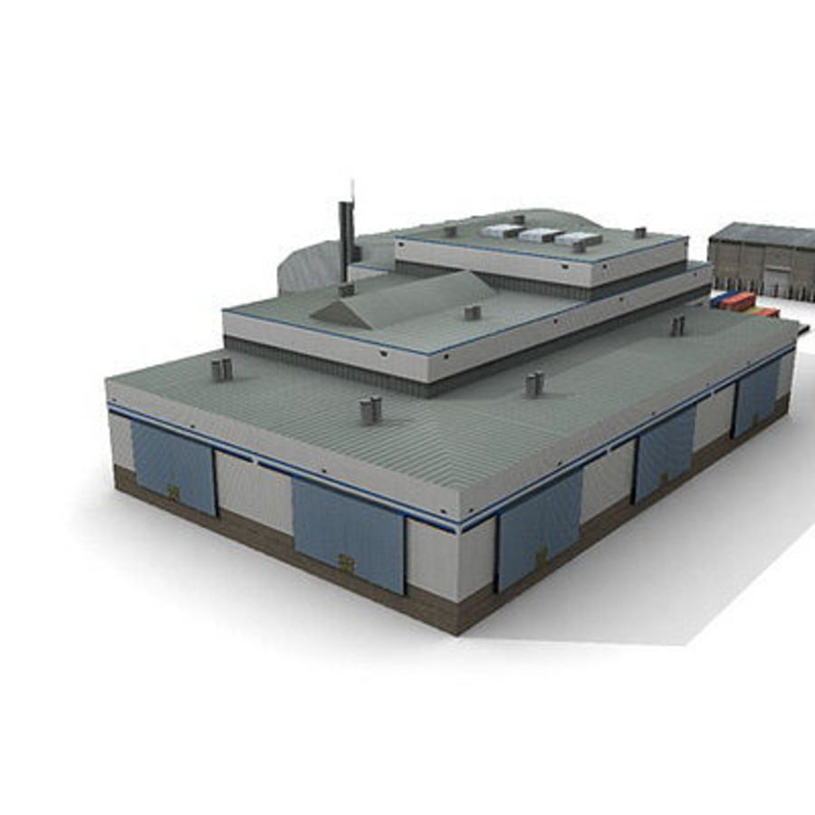 Industrial Buildings Set royalty-free 3d model - Preview no. 9
