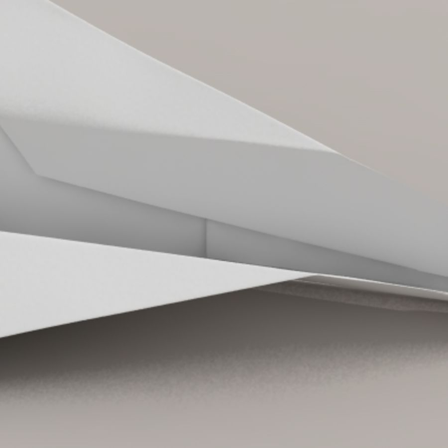 Avião de papel royalty-free 3d model - Preview no. 4