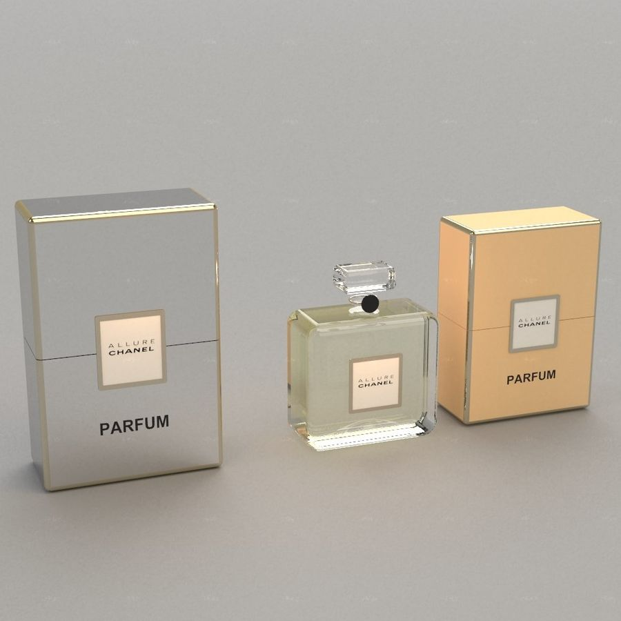 Parfum Allure Chanel royalty-free 3d model - Preview no. 1