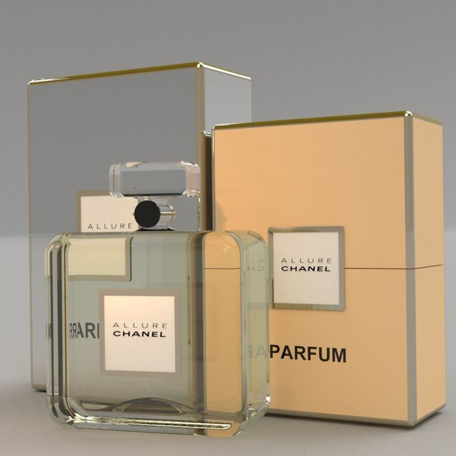 Parfum Allure Chanel royalty-free 3d model - Preview no. 2