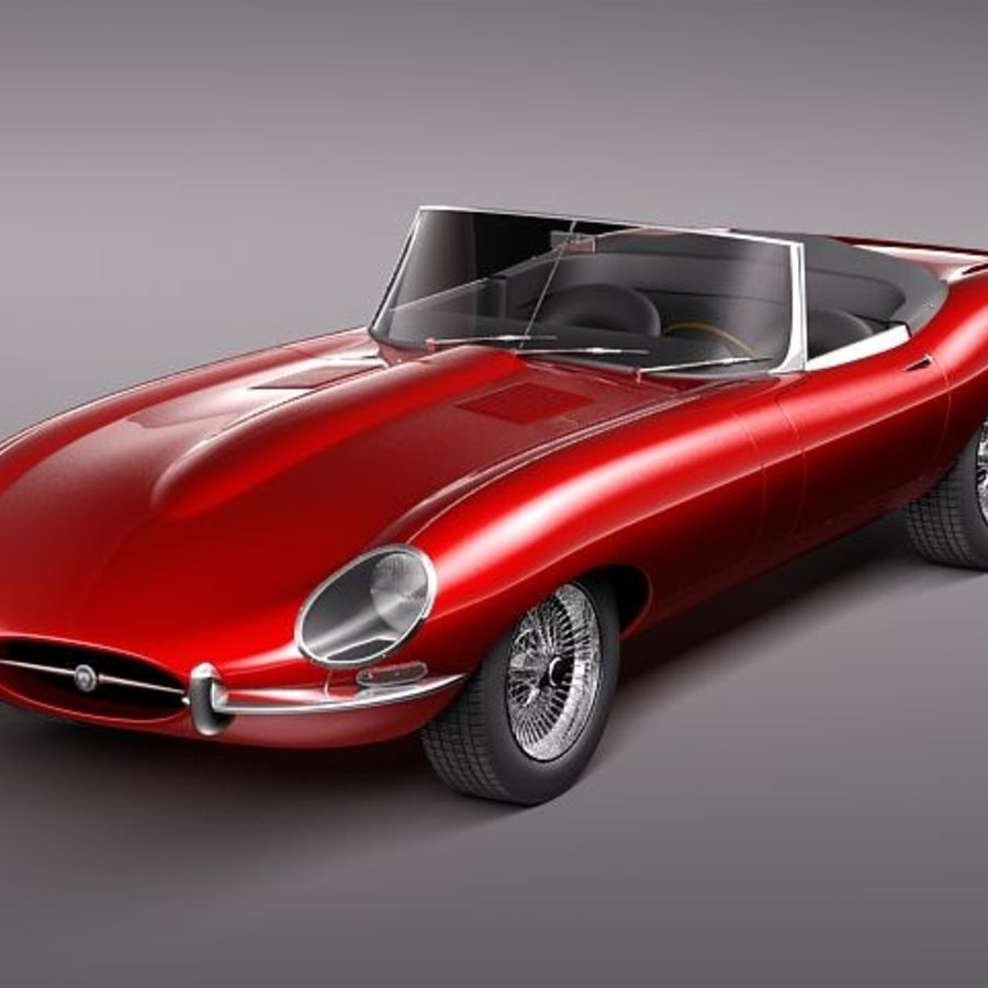 Price Of Jaguar Convertible: Jaguar E-Type Convertible 3D Model $129