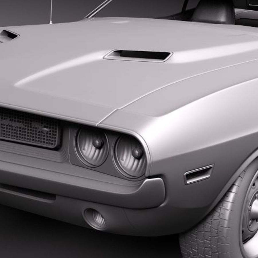 Dodge Challenger 1970 royalty-free 3d model - Preview no. 8