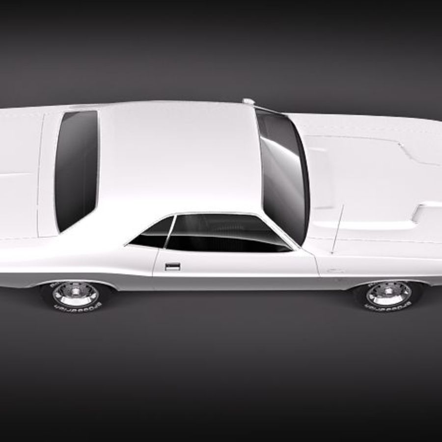 Dodge Challenger 1970 royalty-free 3d model - Preview no. 7