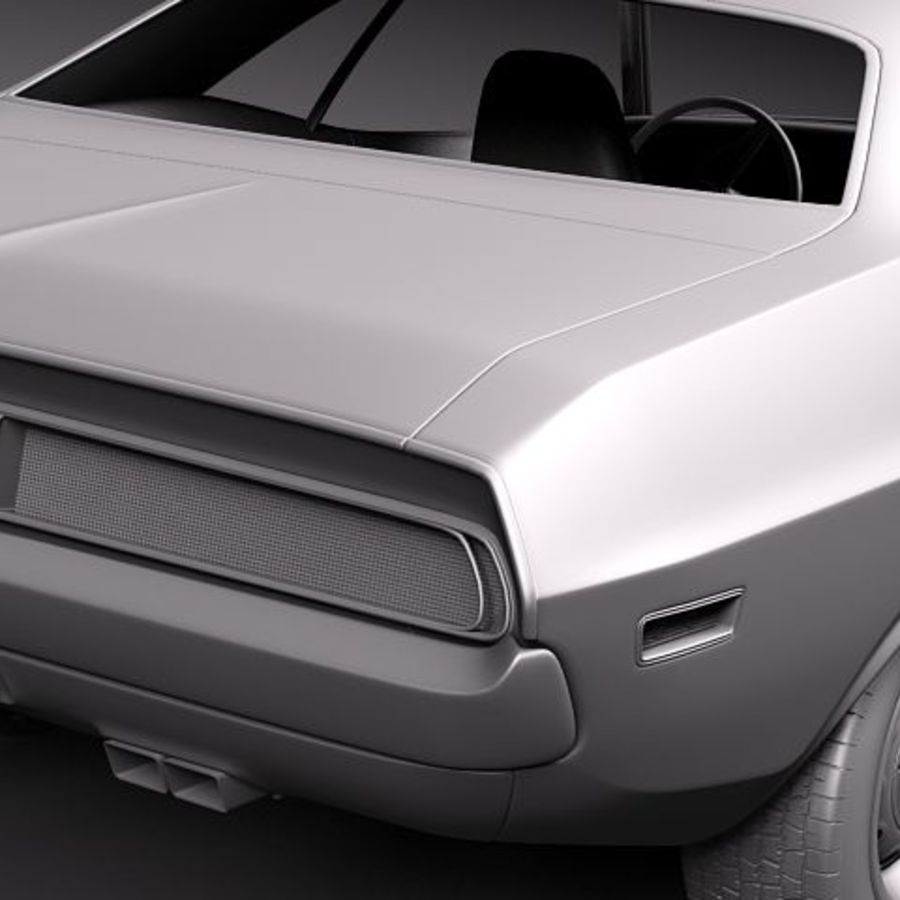 Dodge Challenger 1970 royalty-free 3d model - Preview no. 12