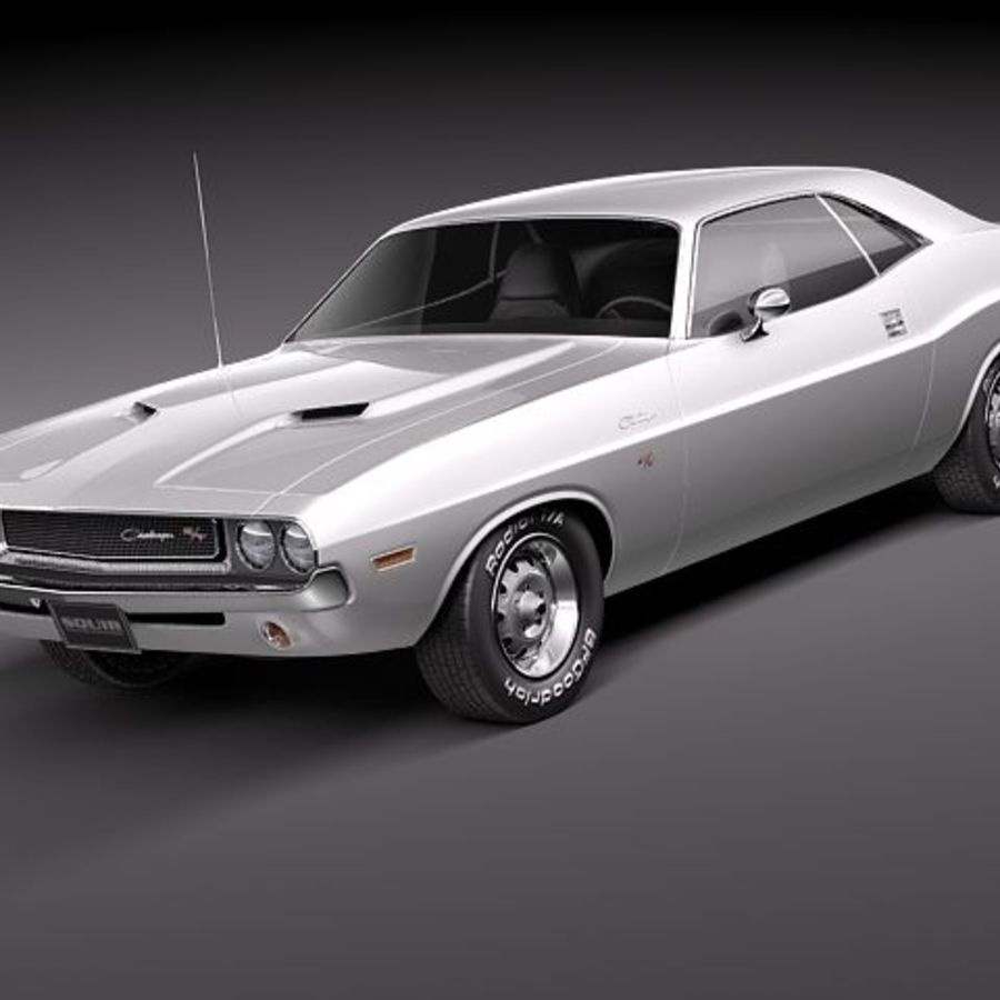 Dodge Challenger 1970 royalty-free 3d model - Preview no. 1