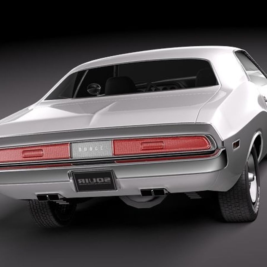 Dodge Challenger 1970 royalty-free 3d model - Preview no. 3