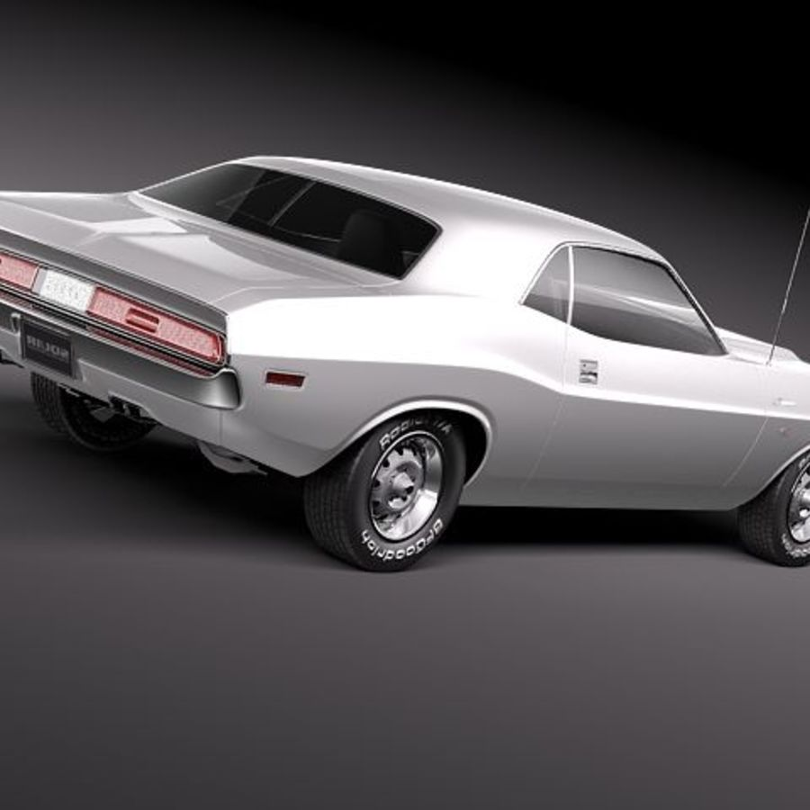 Dodge Challenger 1970 royalty-free 3d model - Preview no. 6