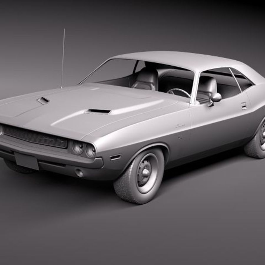 Dodge Challenger 1970 royalty-free 3d model - Preview no. 10