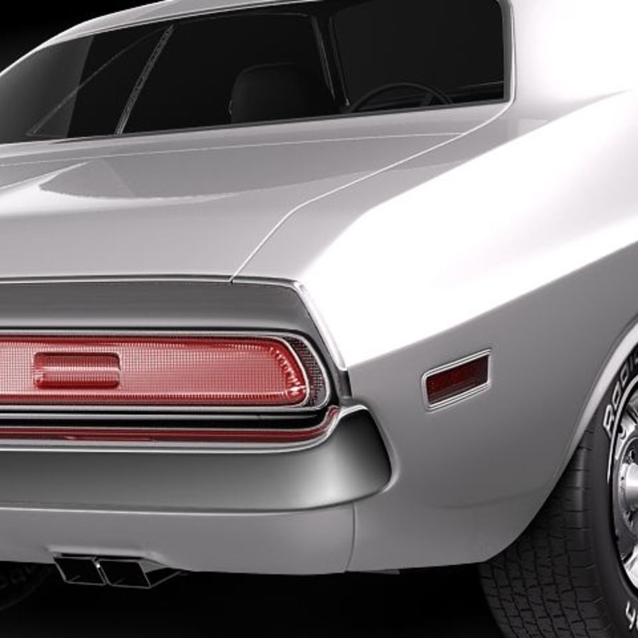 Dodge Challenger 1970 royalty-free 3d model - Preview no. 5