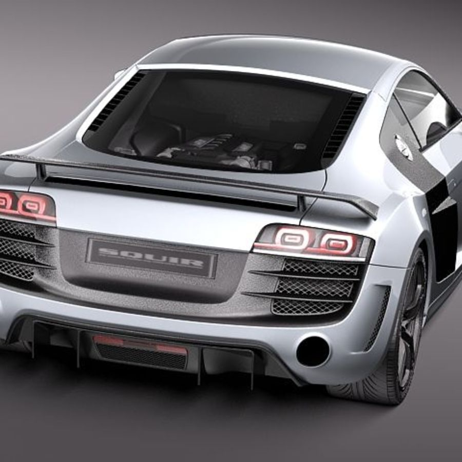 Audi R8 GT 2011 royalty-free 3d model - Preview no. 6