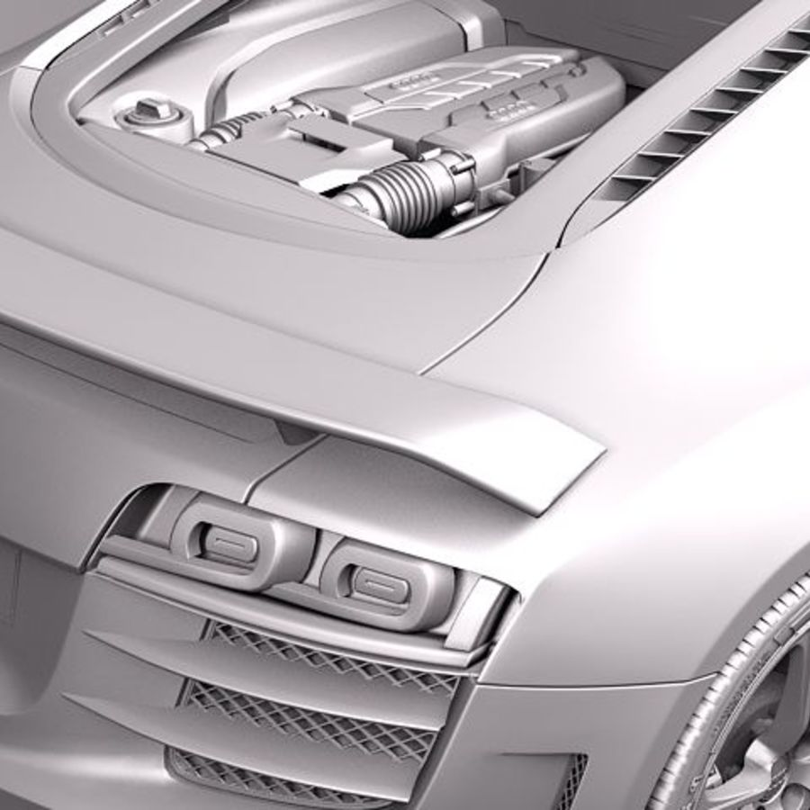 Audi R8 GT 2011 royalty-free 3d model - Preview no. 10