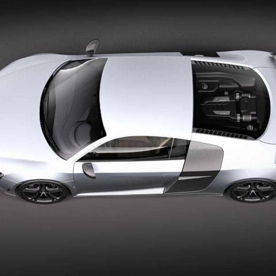 Audi R8 GT 2011 royalty-free 3d model - Preview no. 8