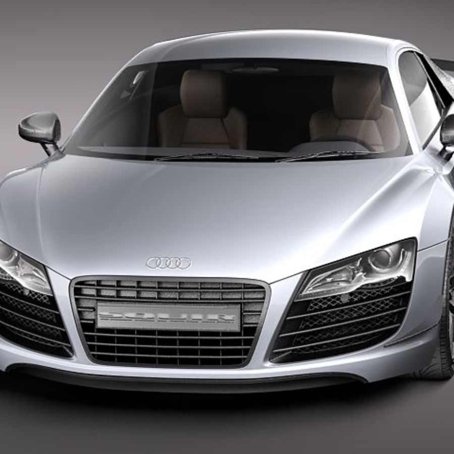 Audi R8 GT 2011 royalty-free 3d model - Preview no. 2