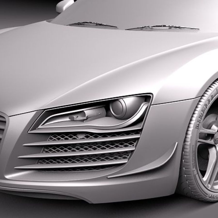 Audi R8 GT 2011 royalty-free 3d model - Preview no. 11