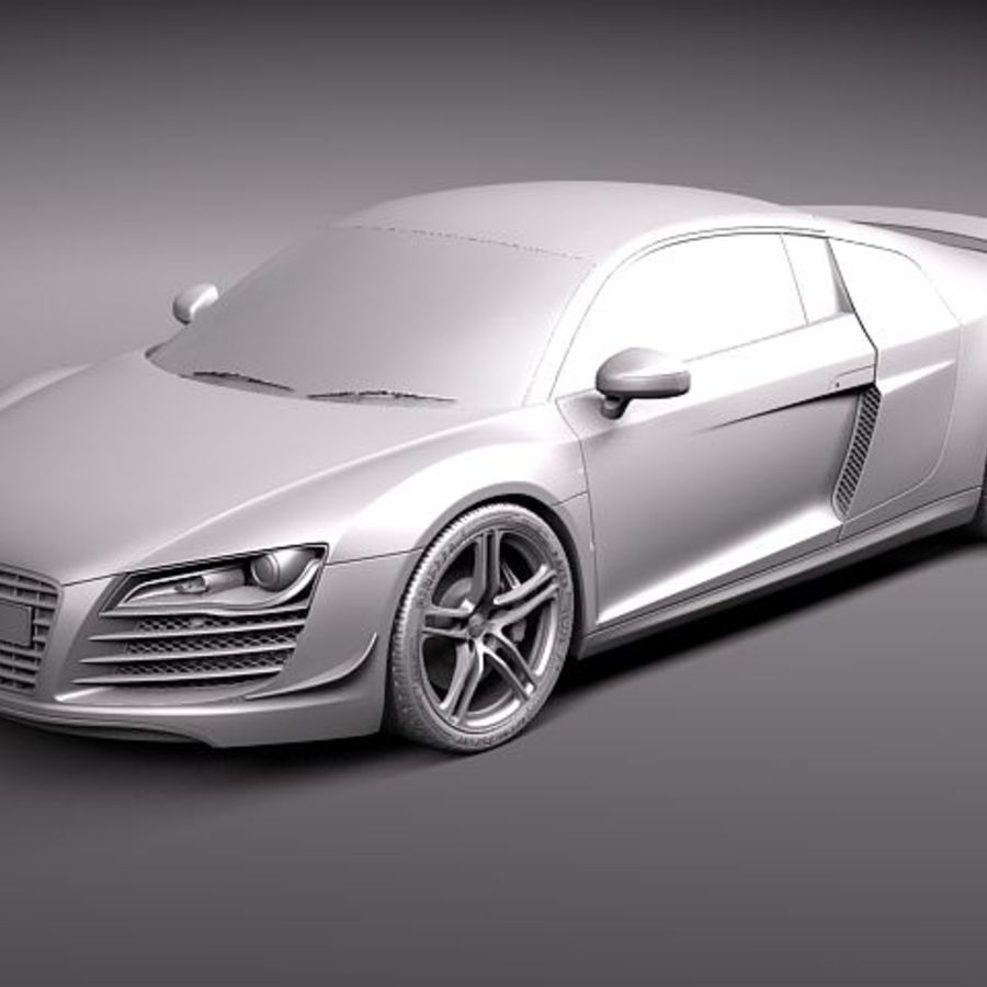 Audi R8 GT 2011 royalty-free 3d model - Preview no. 12