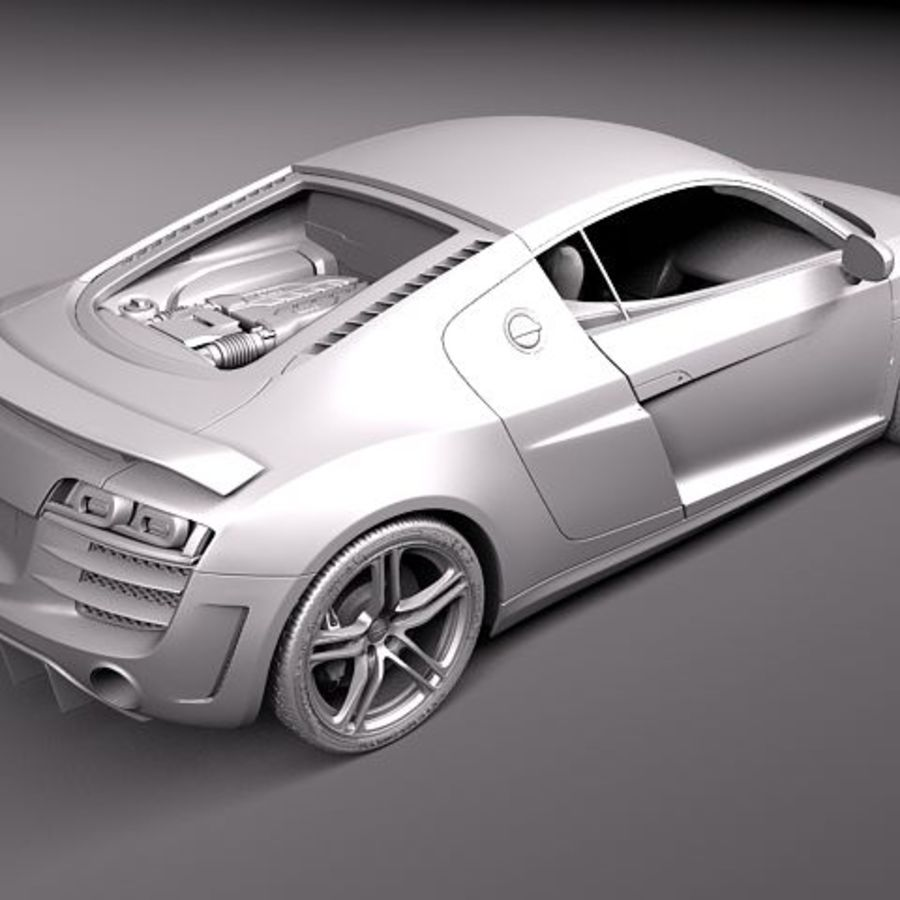 Audi R8 GT 2011 royalty-free 3d model - Preview no. 9