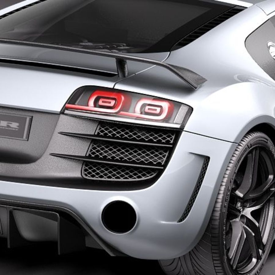 Audi R8 GT 2011 royalty-free 3d model - Preview no. 4