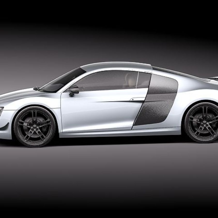 Audi R8 GT 2011 royalty-free 3d model - Preview no. 7