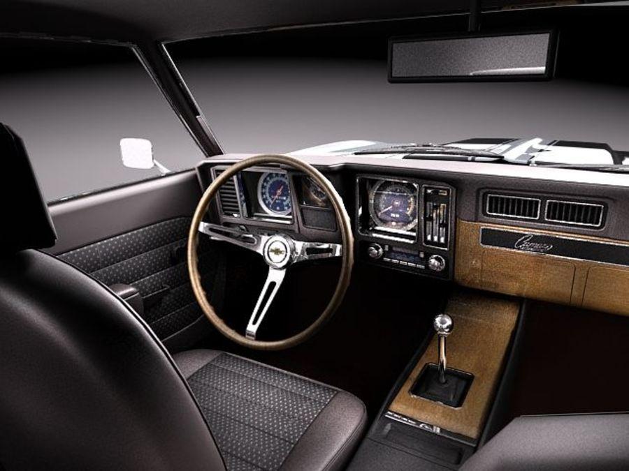 雪佛兰Camaro z28 1969 royalty-free 3d model - Preview no. 13