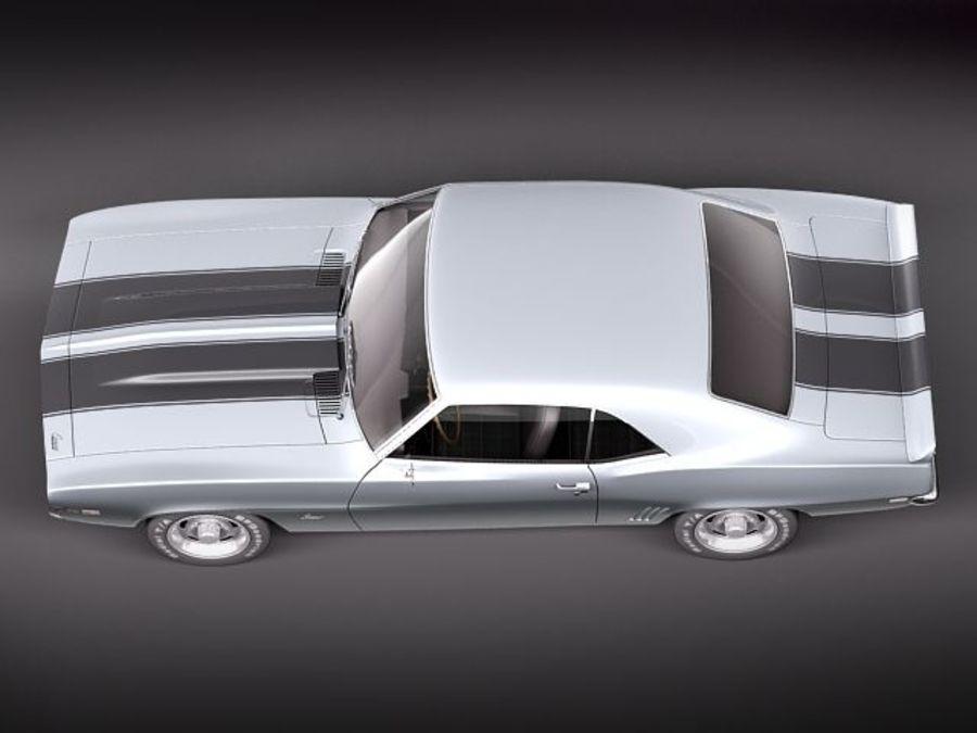 雪佛兰Camaro z28 1969 royalty-free 3d model - Preview no. 8