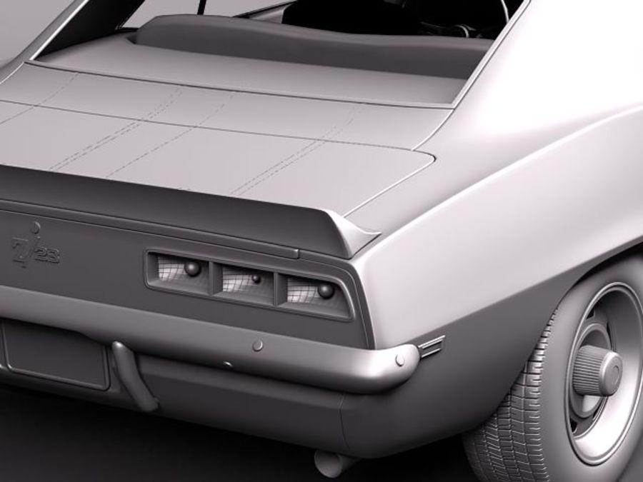 雪佛兰Camaro z28 1969 royalty-free 3d model - Preview no. 12