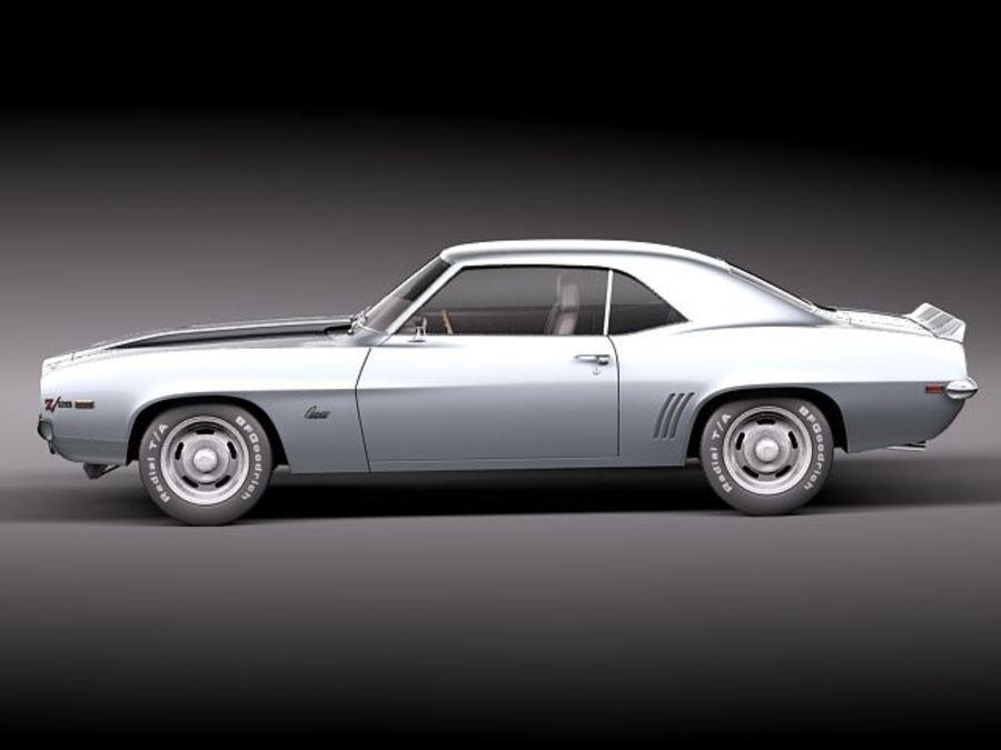 雪佛兰Camaro z28 1969 royalty-free 3d model - Preview no. 7