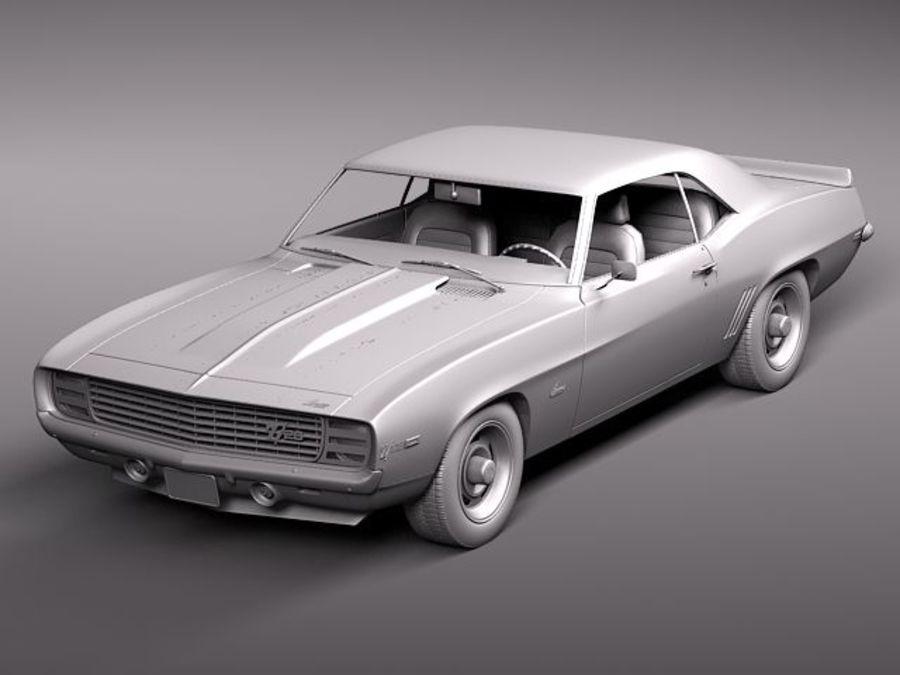 雪佛兰Camaro z28 1969 royalty-free 3d model - Preview no. 9