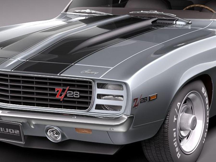 雪佛兰Camaro z28 1969 royalty-free 3d model - Preview no. 3