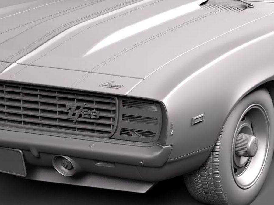 雪佛兰Camaro z28 1969 royalty-free 3d model - Preview no. 10