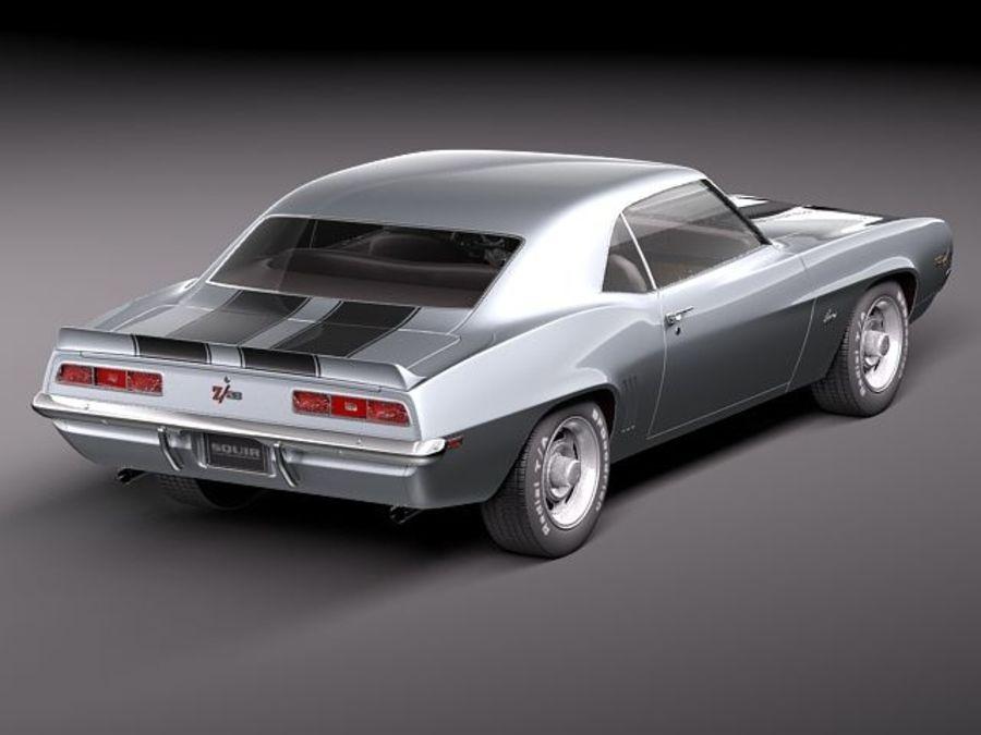 雪佛兰Camaro z28 1969 royalty-free 3d model - Preview no. 5