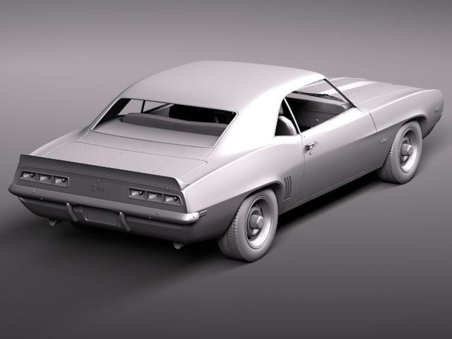 雪佛兰Camaro z28 1969 royalty-free 3d model - Preview no. 11
