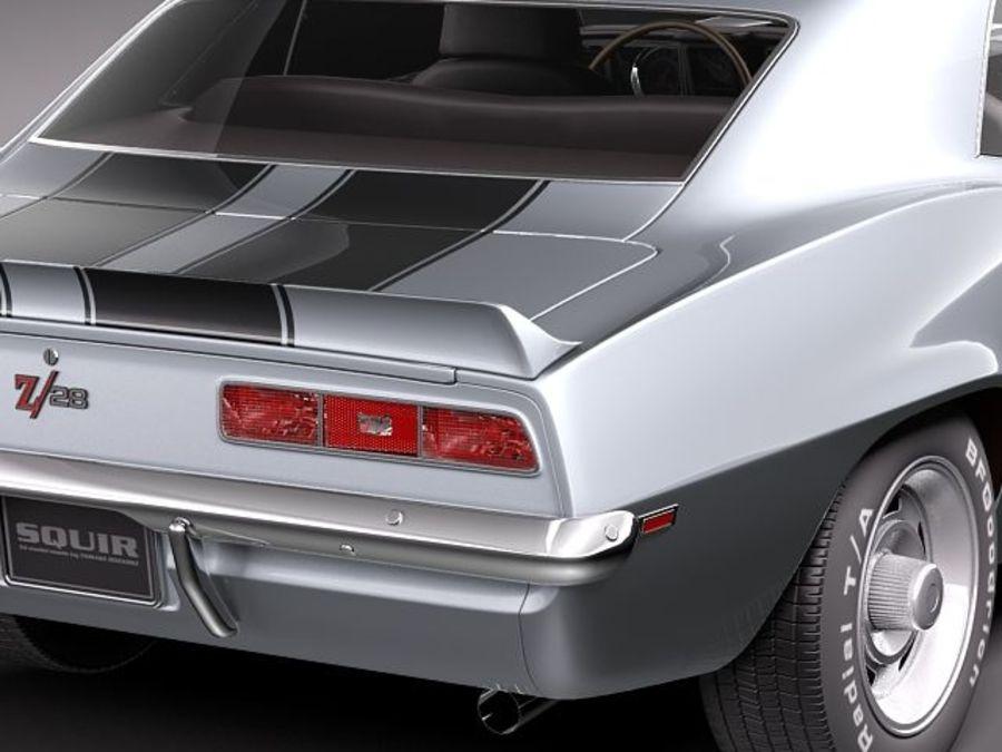 雪佛兰Camaro z28 1969 royalty-free 3d model - Preview no. 4