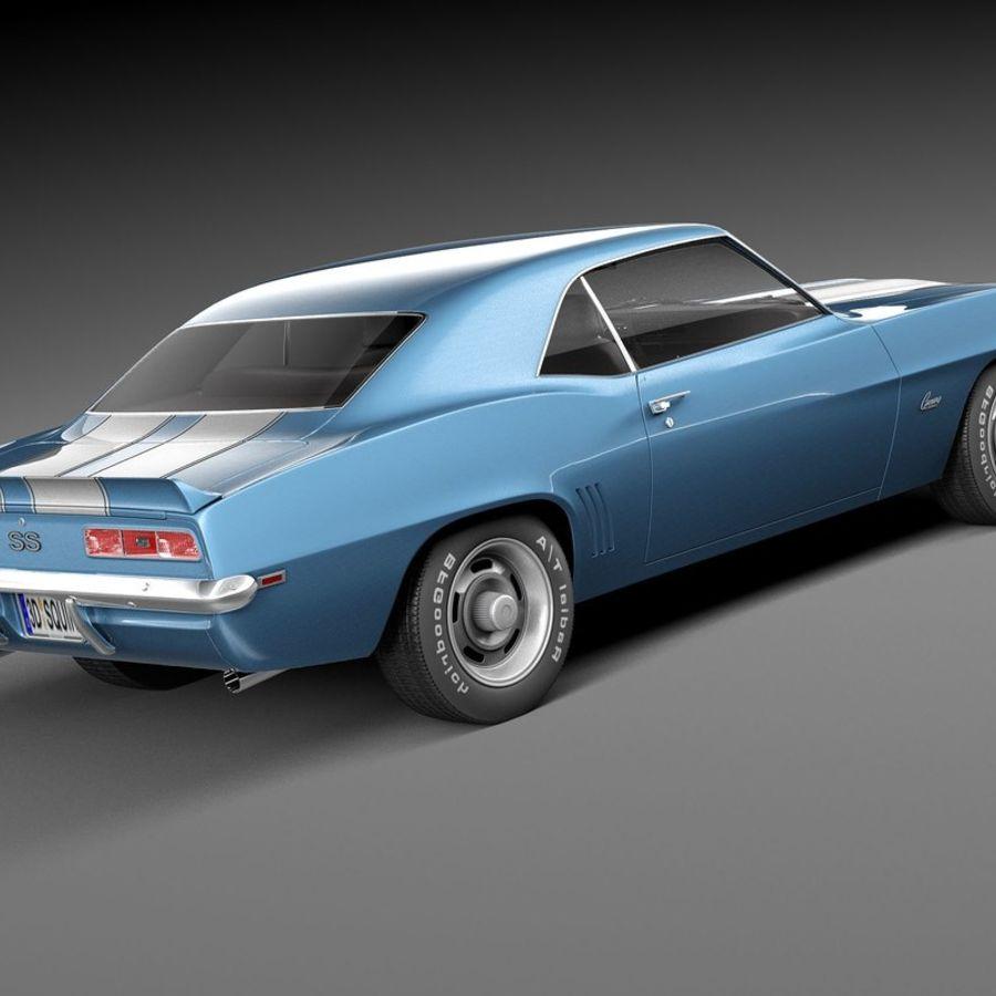 雪佛兰Camaro SS 1969 royalty-free 3d model - Preview no. 5