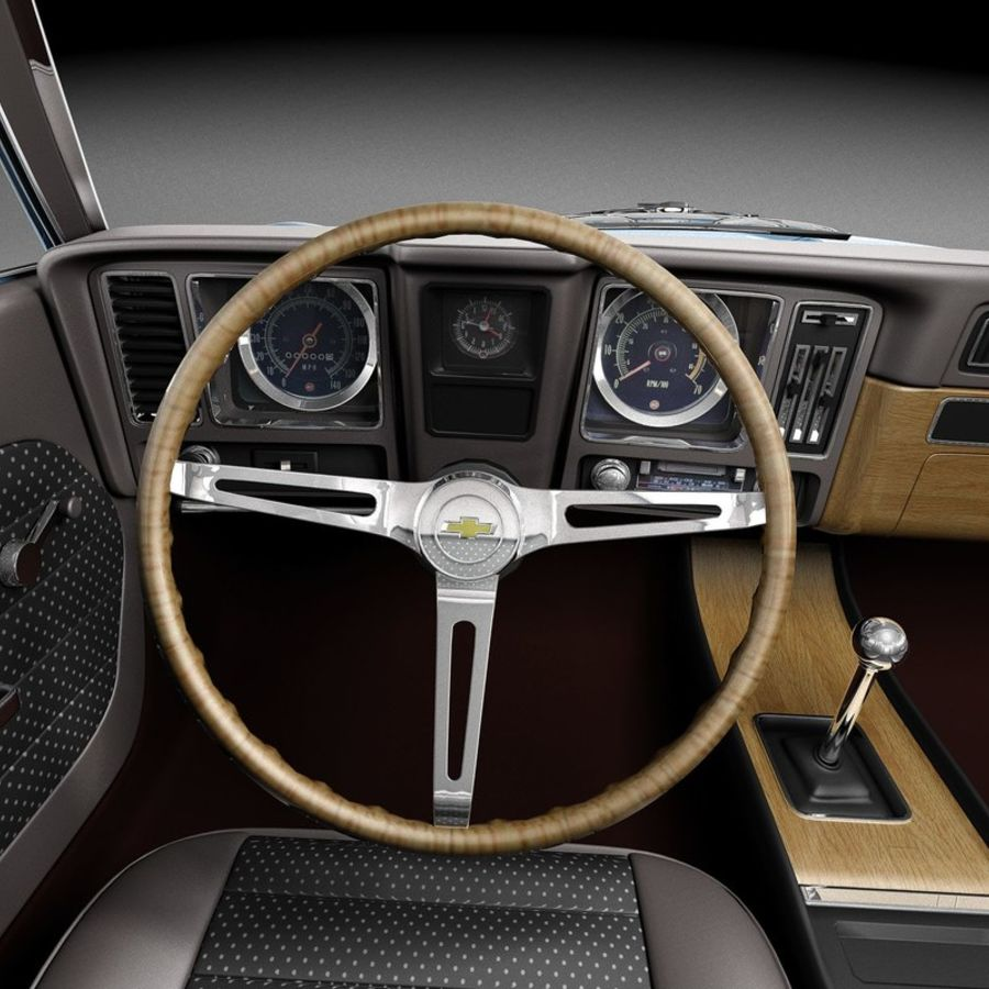 雪佛兰Camaro SS 1969 royalty-free 3d model - Preview no. 9