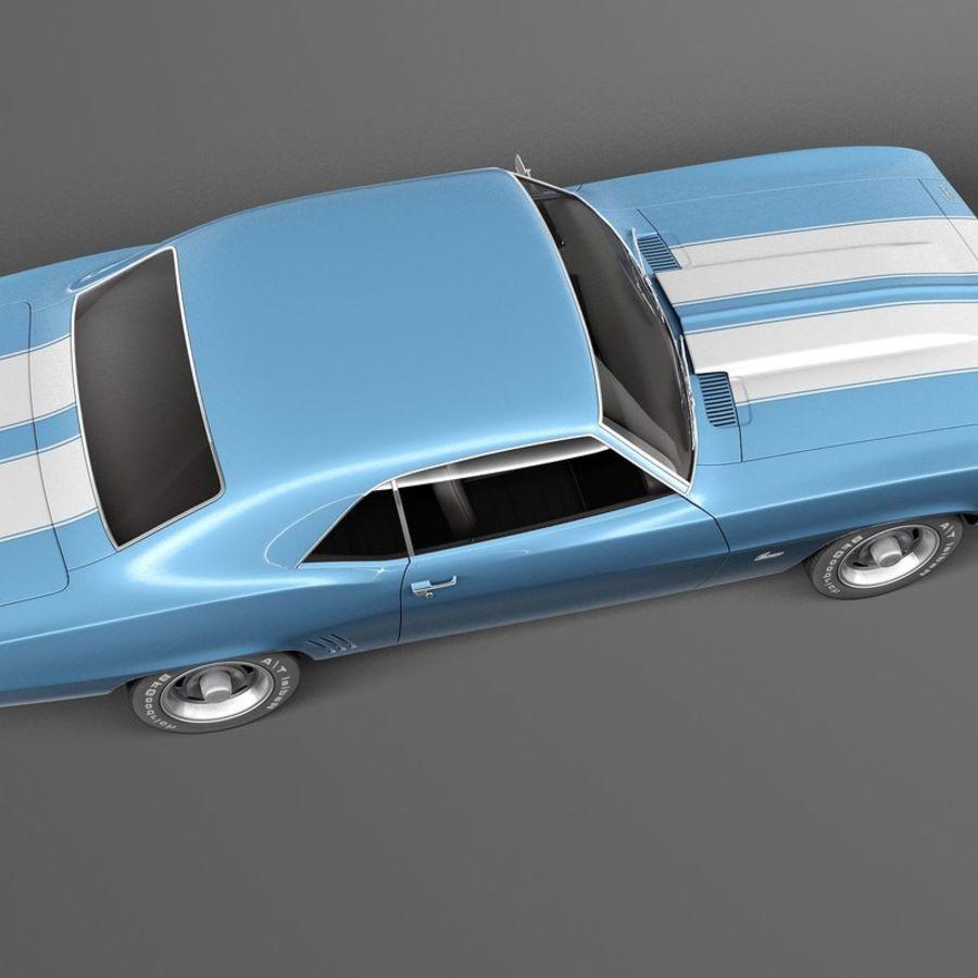 雪佛兰Camaro SS 1969 royalty-free 3d model - Preview no. 8